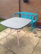 Repainted garden table