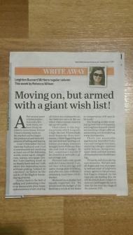Write Away Column - 7 April 2015